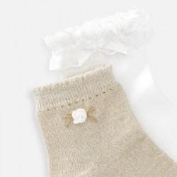 Комплект чорапи с апликация за момиче - 10787-037 - view 2