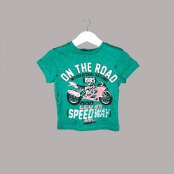 Детски комплект Enfant с тениска къс ръкав и къси панталони за бебе момче. - 54595-038 - view 2