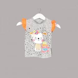 Детски комплект Enfant с тениска къс ръкав и къси панталони за бебе момиче. - 54439-003 - view 3