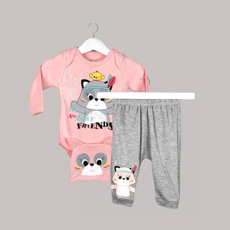 Детски комплект Enfant от 3 части за бебе момиче - 48365-006 - view 1