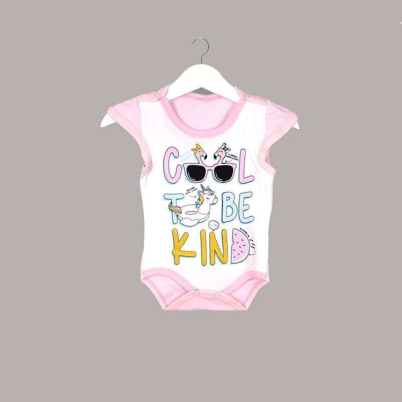 Детско боди Enfant с къс ръкав за бебе момиче. - 54347-048 - view 1