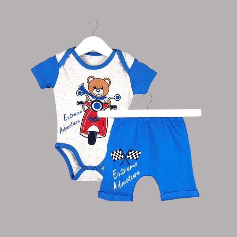 Детски комплект Enfant с боди къс ръкав и къси панталони за бебе момче - 54614-043 - view 1