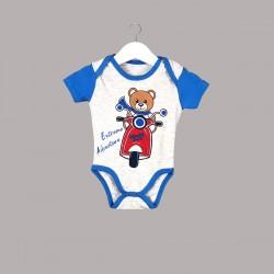 Детски комплект Enfant с боди къс ръкав и къси панталони за бебе момче - 54614-043 - view 3