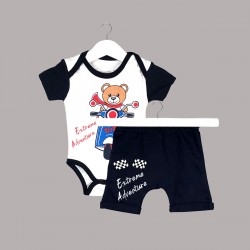 Детски комплект Enfant с боди къс ръкав и къси панталони за бебе момче - 54614-046 - view 1