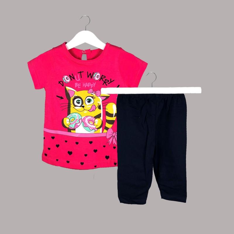 Детски комплект Enfant с тениска къс ръкав и клин за бебе момиче - 51047-004 - view 1
