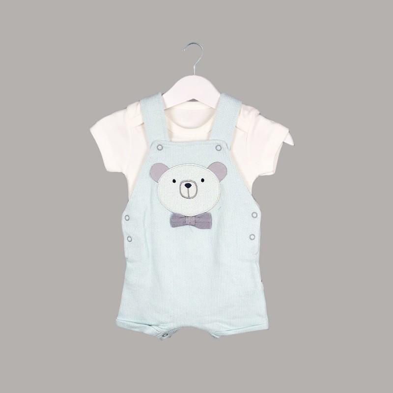 Детски комплект Enfant с боди къс ръкав и гащеризон за бебе момче. - 53710-045 - view 1