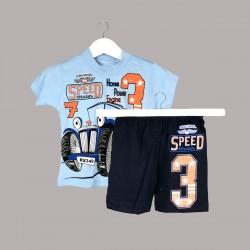 Детски комплект Enfant с тениска къс ръкав и къси панталони за бебе момче. - 53180-032 - view 1