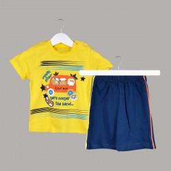 Детски комплект Enfant с тениска къс ръкав и къси панталони за бебе момче. - 53577-009 - view 1