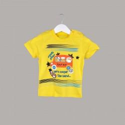 Детски комплект Enfant с тениска къс ръкав и къси панталони за бебе момче. - 53577-009 - view 2