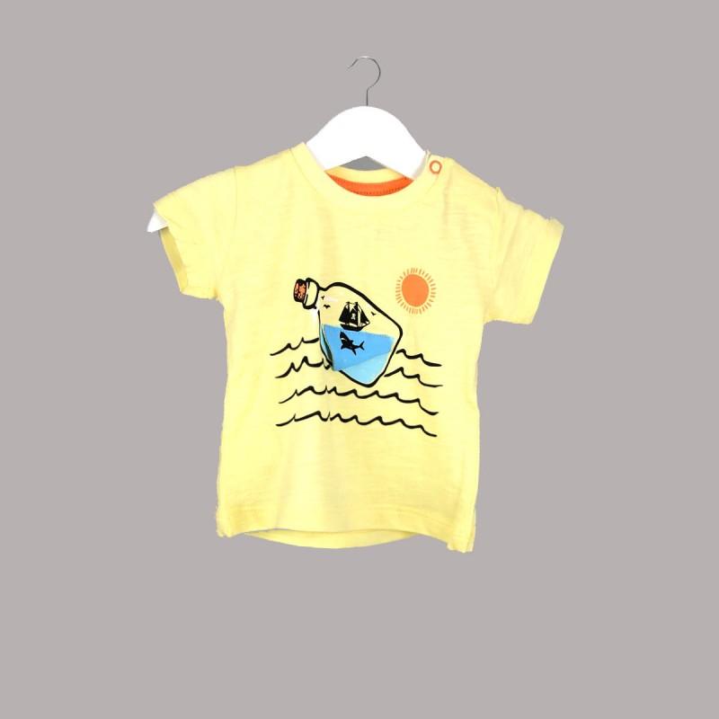Детска тениска Enfant с къс ръкав за бебе момче - 52325-009 - view 1