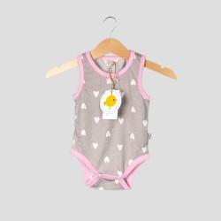 Бебешки комплект боди и къси панталони Organic Kid за момичета. - 10191-010 - view 2