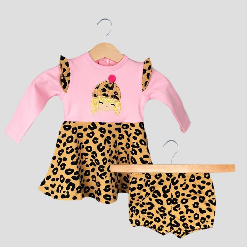 Бебешка рокля Organic Kid с гащички за момичета. - 10385-001 - view 1