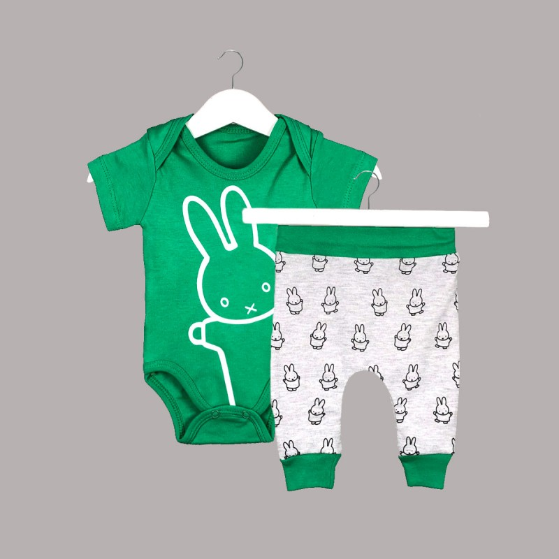 Детски комплект Enfant с боди къс ръкав и панталони за бебе момче - 54612-039 - view 1