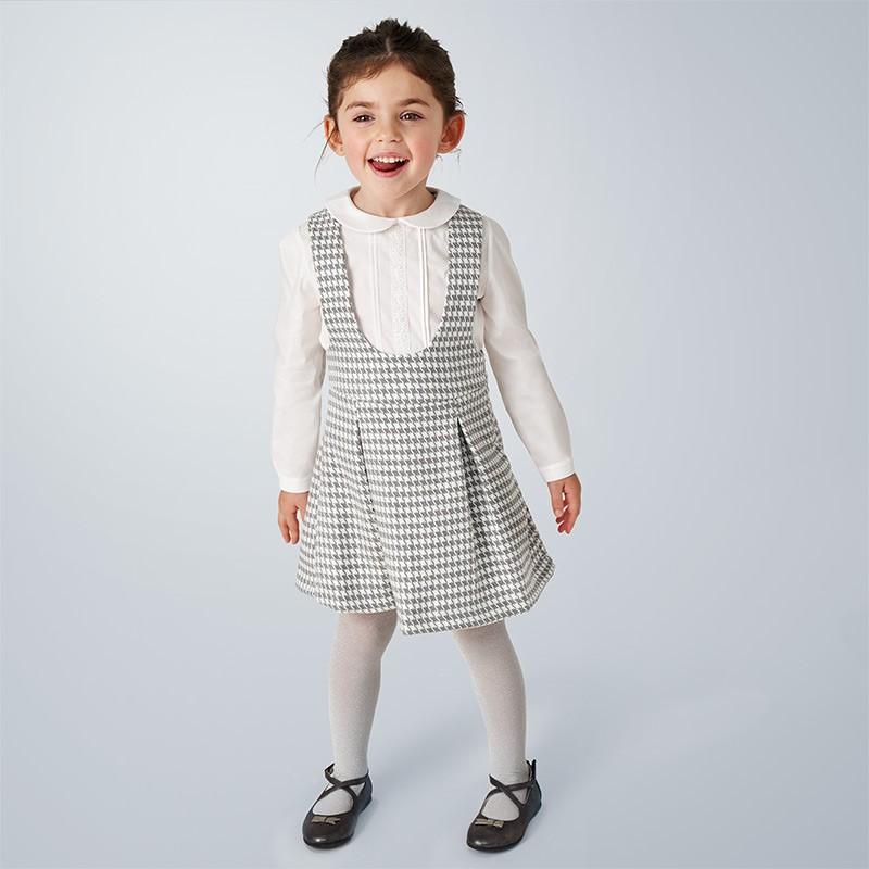 Детски комплект Mayoral с риза дълъг ръкав и сукман за момичета - 4991-010 - view 1