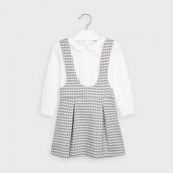 Детски комплект Mayoral с риза дълъг ръкав и сукман за момичета - 4991-010 - view 2