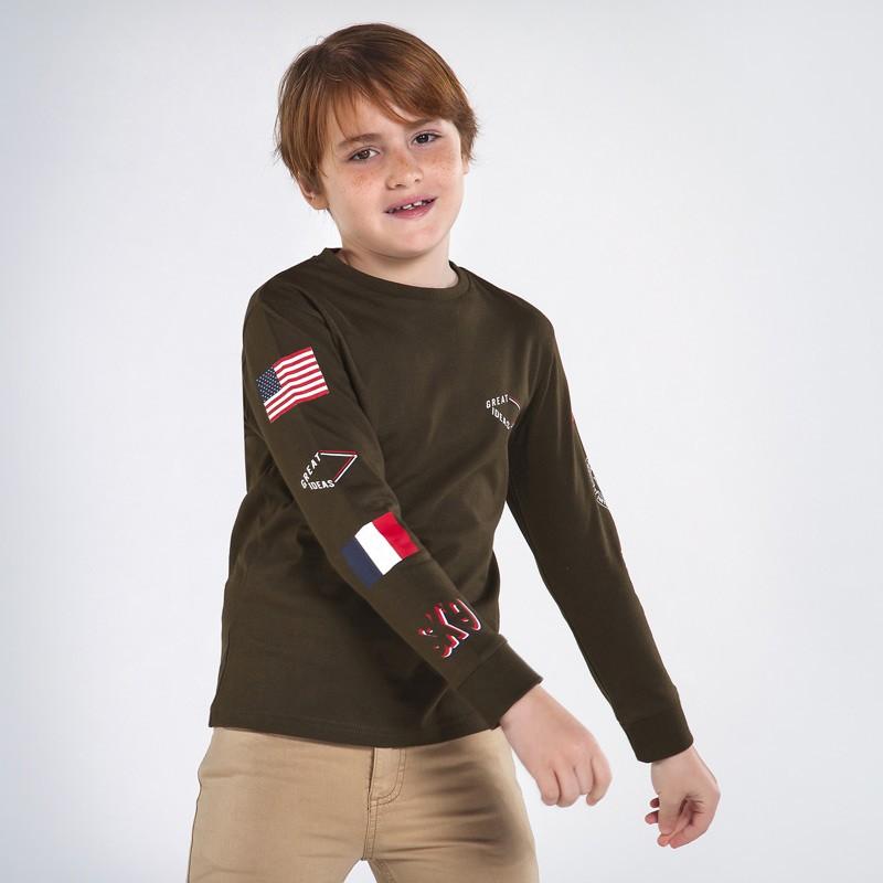Детска тениска Mayoral с дълъг ръкав за момчета - 7048-085 - view 1