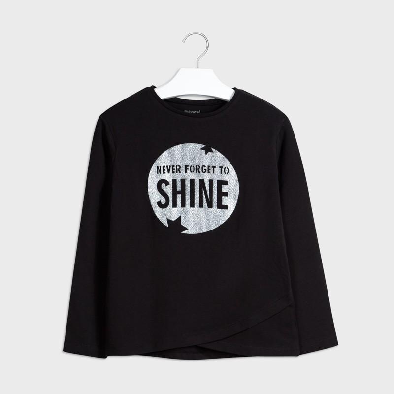 Детска тениска Mayoral с дълъг ръкав за момичета - 7076-069 - view 1