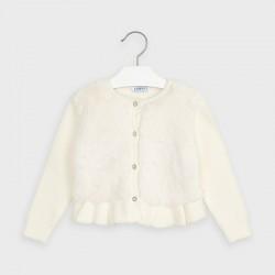 Детски елегантен пуловер-жилетка Mayoral за момичета - 4353-032 - view 2