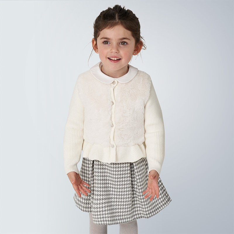 Детски елегантен пуловер-жилетка Mayoral за момичета - 4353-032 - view 1