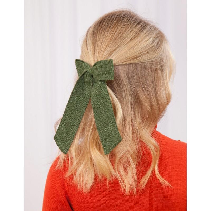 Ластик за коса панделка блясък Abel & Lula за момичета - 5922-030 - view 1