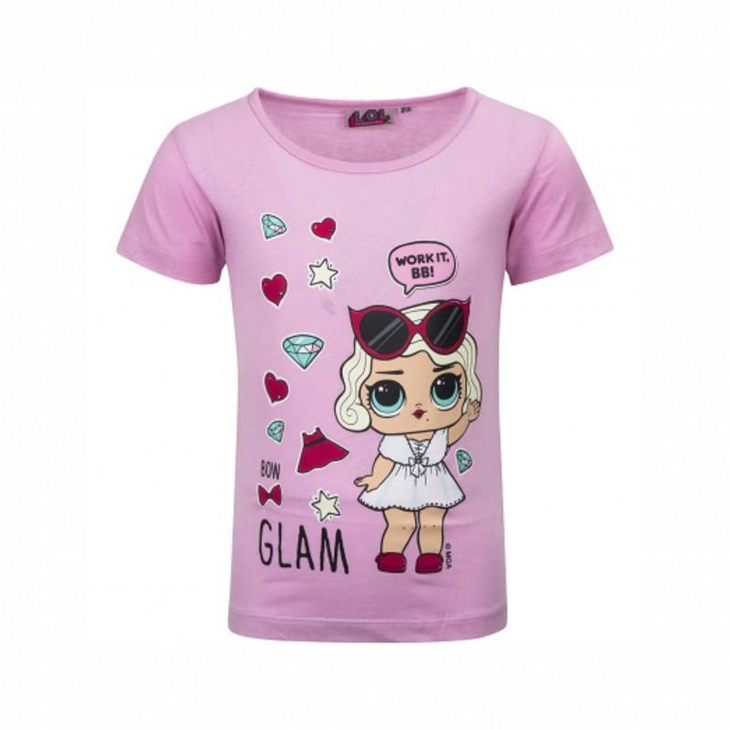 Детска тенискаL.O.L. Surprise (Кукла Лол) с къс ръкав за момичета. - 18-234 pink-98 - view 1
