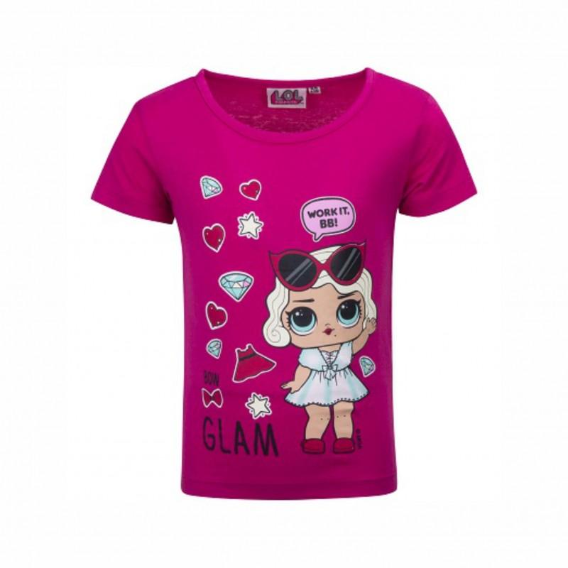 Детска тенискаL.O.L. Surprise (Кукла Лол) с къс ръкав за момичета. - 18-234 fuxia-98 - view 1