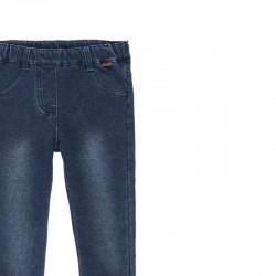Дълги дънки jeggings Boboli за момичета - 490014-BLUE - view 3