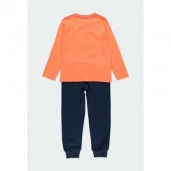 Комплект Boboli с тениска дълъг ръкав и спортни панталони за момчета - 501219-5095 - view 2