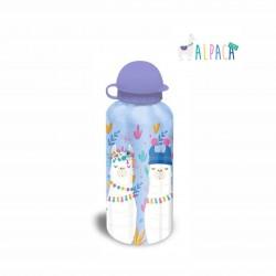 Детска алуминиева бутилка за вода Alpaca style (Лама) за момичета. - KL10060 purple - view 1