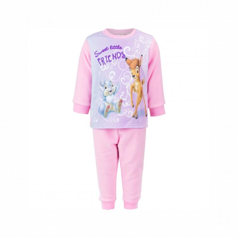 БебешкапижамаBambi (Бамби)с дълъг ръкав за момичета. - HQ0314 pink-80 - view 1