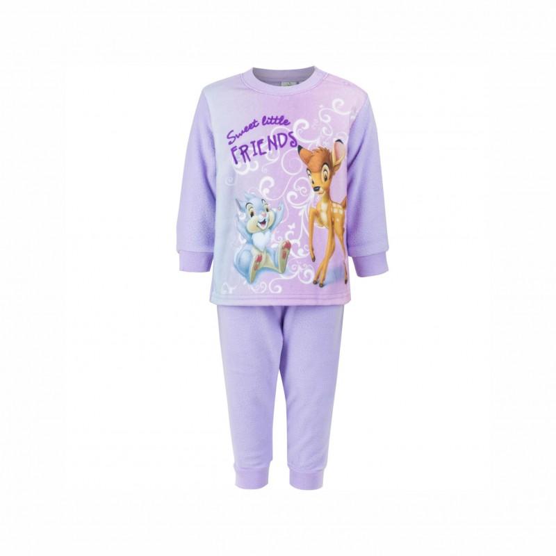 БебешкапижамаBambi (Бамби)с дълъг ръкав за момичета. - HQ0314 purple-80 - view 1