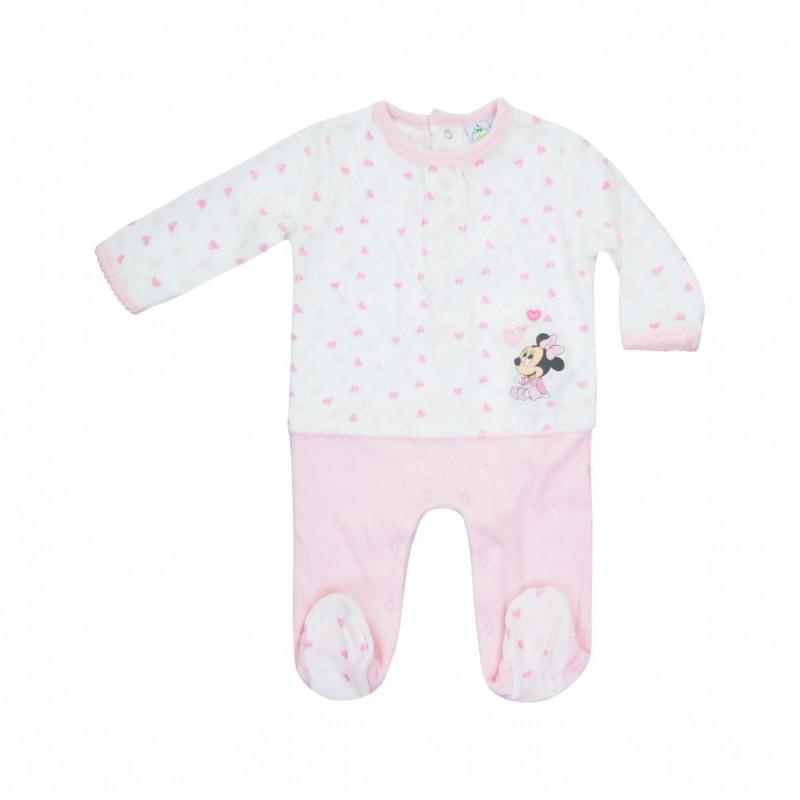 Бебешки гащеризон Minnie Mouse (Мини Маус) за момичета. - HQ0034 pink - view 1
