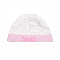 Бебешки комплект Bambi (Бамби) от 3 части за момичета - гащеризон, шапка и лигавник. - AQE0343 - view 3