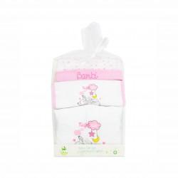 Бебешки комплект Bambi (Бамби) от 3 части за момичета - гащеризон, шапка и лигавник. - AQE0343 - view 5
