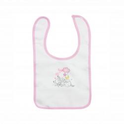 Бебешки комплект Bambi (Бамби) от 3 части за момичета - гащеризон, шапка и лигавник. - AQE0343 - view 4