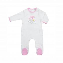 Бебешки комплект Bambi (Бамби) от 3 части за момичета - гащеризон, шапка и лигавник. - AQE0343 - view 2