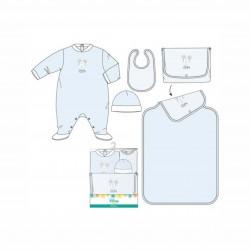 Бебешки комплект Mickey Mouse (Мики Маус) от 4 части за момчета - гащеризон, шапка, лигавник и подложка за преповиване. - ER0355-68 - view 2