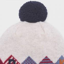 Комплект трицветни шапка и шал Mayoral за бебе момче - 10840-054 - view 2