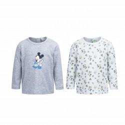 Комплект тениски Mickey Mouse - AQE0483 grey-62 - view 1