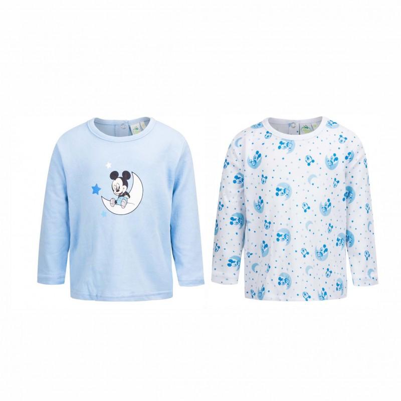 Бебешки комплект 2бр.тенискиMickey Mouse (Мики Маус) за момчета. - AQE0483 blue-56 - view 1