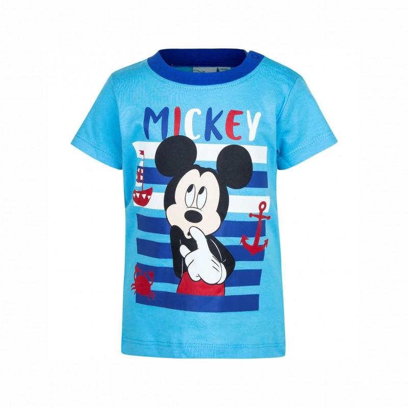 БебешкатенискаMickey Mouse (Мики Маус) с къс ръкав за момчета. - ER0164 blue-68 - view 1