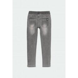 Дълги дънки Boboli за момичета - 401016-GREY - view 2