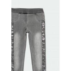 Дълги дънки Boboli за момичета - 401016-GREY - view 3