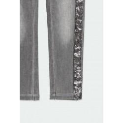 Дълги дънки Boboli за момичета - 401016-GREY - view 4