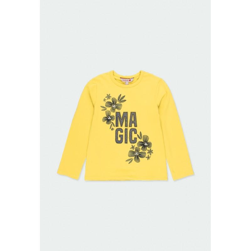 Тениска Boboli с дълъг ръкав за момичета - 401050-4517 - view 1