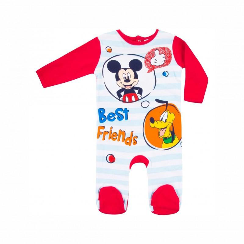Бебешки гащеризон Mickey Mouse (Мики Маус)за момчета. - HS0315 red - view 1