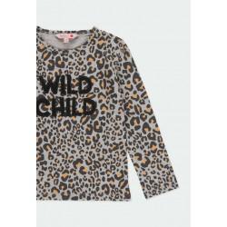 Тениска Boboli с дълъг ръкав за момичета - 441021-9392 - view 3