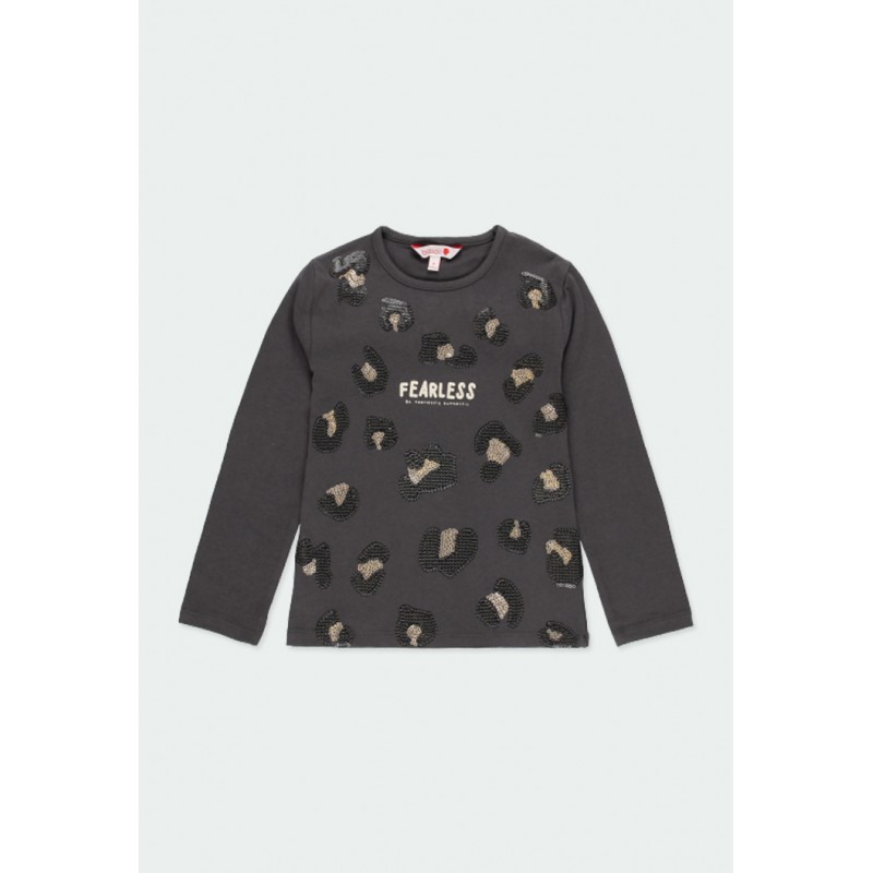 Тениска Boboli с дълъг ръкав за момичета - 441065-8116 - view 1