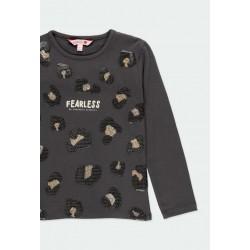 Тениска Boboli с дълъг ръкав за момичета - 441065-8116 - view 3