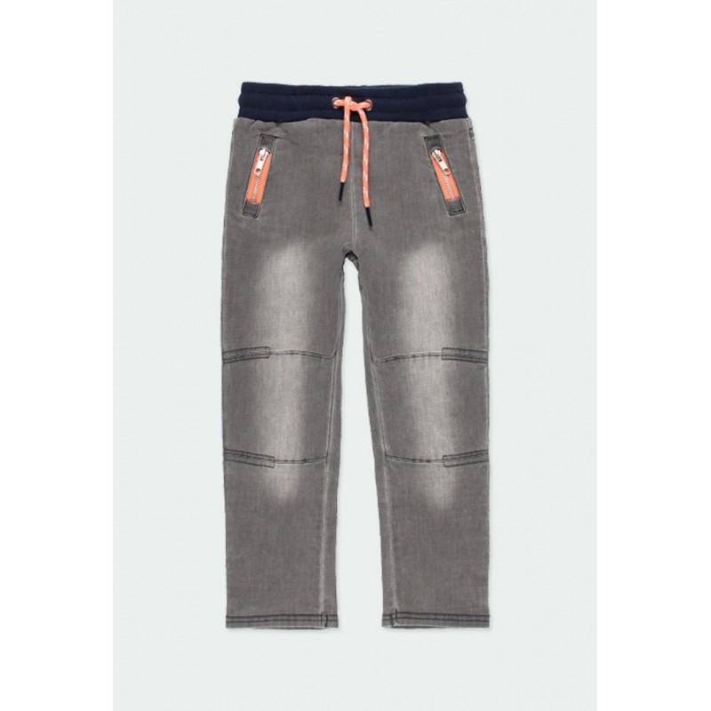Дълги дънки Boboli за момчета - 501152-GREY - view 1